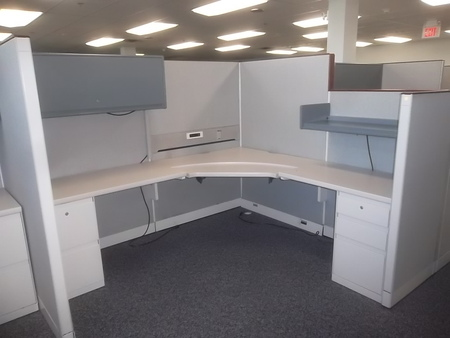 Steelcase 9000 Enhanced Workstation-Cubicles. 65″ dropping on the wings to 53″ / 70 Available / Boston, Mass.